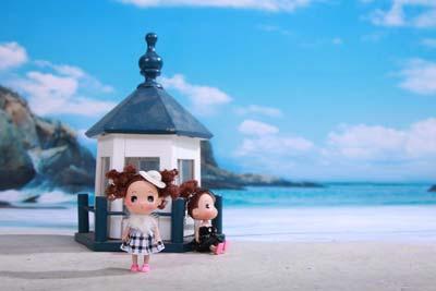 动漫情侣头像看海