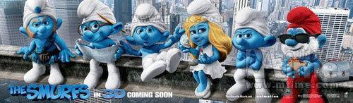 《蓝精灵》海报致敬《老友记》。
