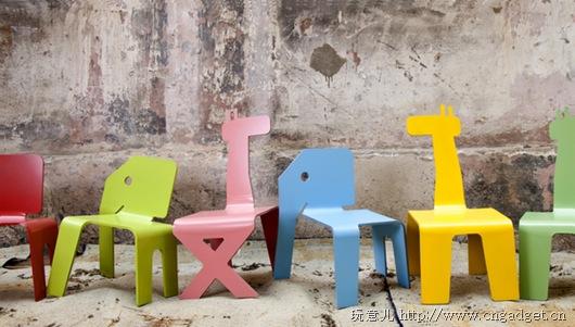 可爱的动物儿童椅
