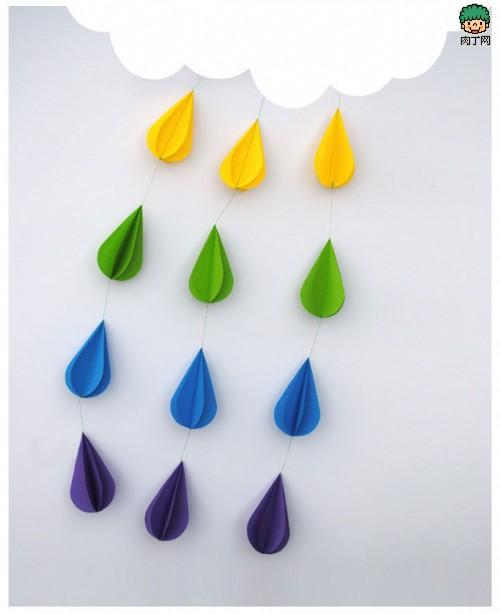 漂亮的云彩雨滴立体装饰画