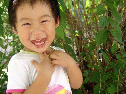 希望我家宝宝带着灿烂的笑容开心的生活!