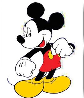 米奇头像简笔画彩色_米老鼠卡通图片图片