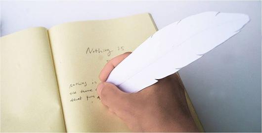 羽毛书签圆珠笔