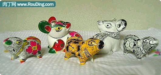 12生肖泥塑作品—泥塑老鼠