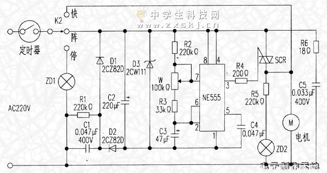 电风扇阵风控制电路-封存