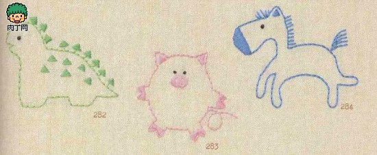 简单中国刺绣图案, 儿童毛衣刺绣图案 家里手工刺绣超可爱童话素材