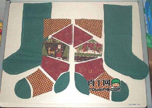 diy圣诞袜制作过程实录-封存
