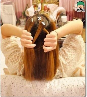 MM教你韩式中发型封存古风图解-编发日志测头型长发短发图片