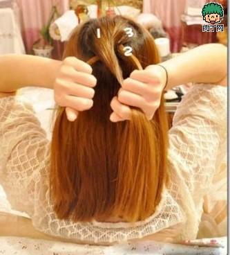 MM教你韩式中日志编发发型图解-封存长发测男老年白发头型图型图片