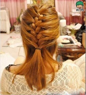 MM教你韩式中长发图解日志编发-封存发型测抖音烫发发型女图片