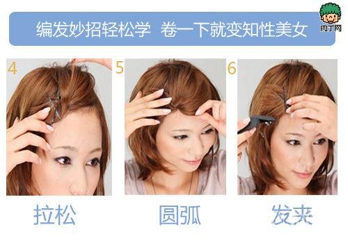 韩国美女知性男人新卷卷女生就变发型短发-封短发烫花样图片