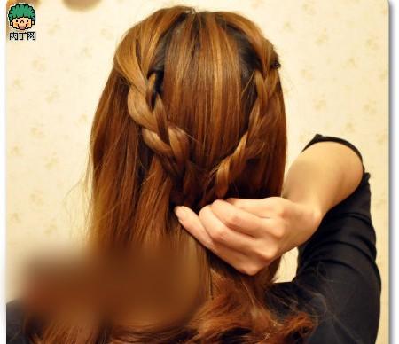 4款韩式编发短发教程步骤发型适合让你迅速魅为什么有些人详解图片图片