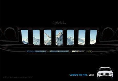 jeep 汽车创意广告高清图片
