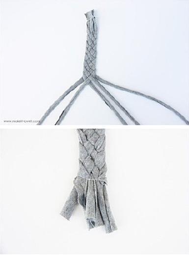 教你怎么制作发带 手工制作碎布编织束发带diy教程