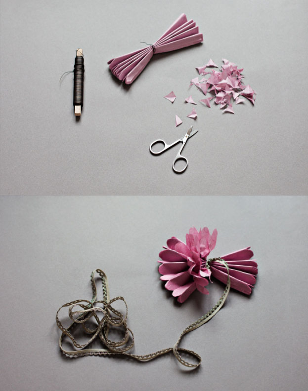 教你怎么折纸花 一款精致逼真的牡丹纸花的折法图解图片