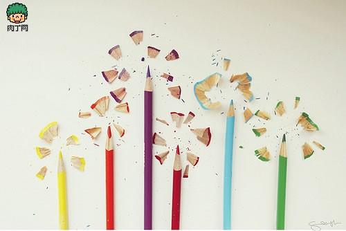笔屑创意画_铅笔屑也可以变成美丽的图画