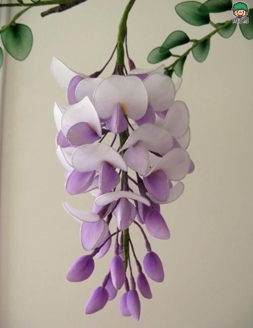 紫藤丝网花制作过程图解
