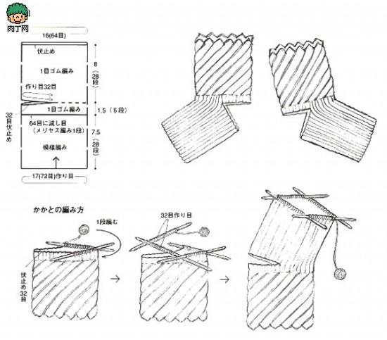 百搭毛线袜子棒针编织方法图解 毛线袜子的编织方法