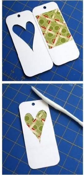 手工制作可爱心形书签制作方法