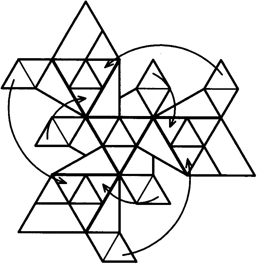 三角形挂雪树3d模型_乐乐简笔画
