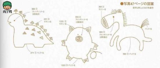简单中国刺绣图案, 儿童毛衣刺绣图案-家里手工刺绣