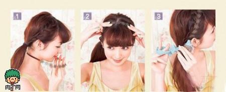 4款日系淑女编发教程可爱日系甜美发型diy图解
