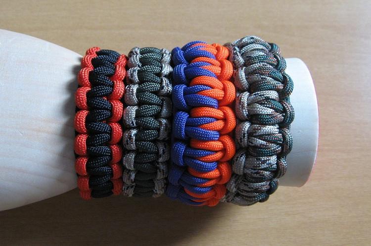 一款超酷的手工手链编织方法图解