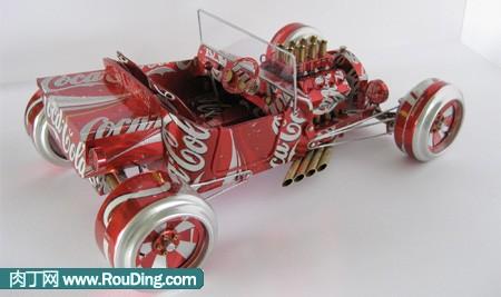 一组易拉罐手工制作汽车作品大赏