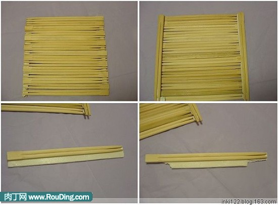 简约时尚的一次性筷子做相框diy作品