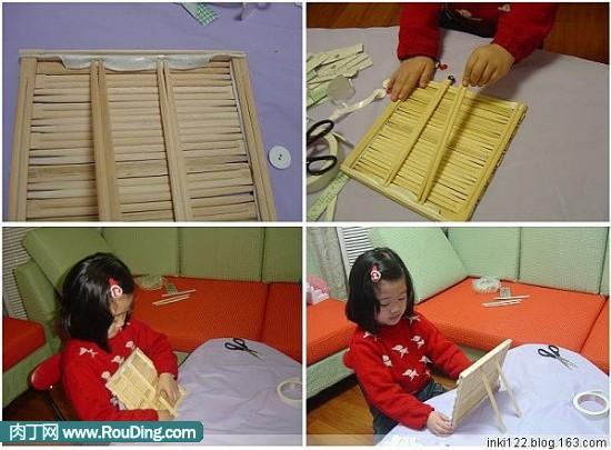 用筷子做正方体框架步骤图片