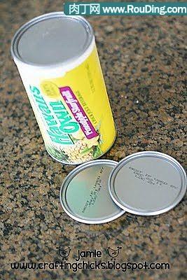 易拉罐底diy的创意冰箱贴相框-封存
