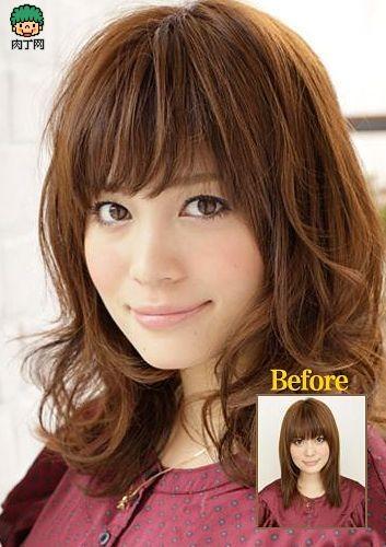 中长卷发发型设计 知性轻熟女中卷发发型图片DIY步骤图片