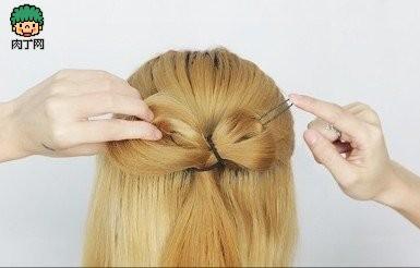 气质希腊发型适合v气质感十足蝴蝶结新娘-编发刘海封存放盘发发型的图片
