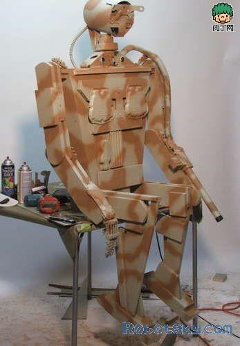 一款木头机器人的制作过程-封存
