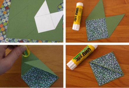 自制折纸书签图片 简单几步做精美卡通书签