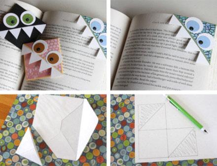 自制折纸书签图片 简单几步做精美卡通书签-封存
