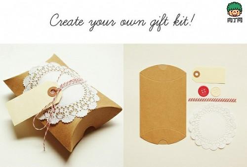 非常精致的一款礼物包装diy图解,做法简单又很实用,喜欢蕾丝的