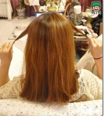 后面头发剪齐步骤图片