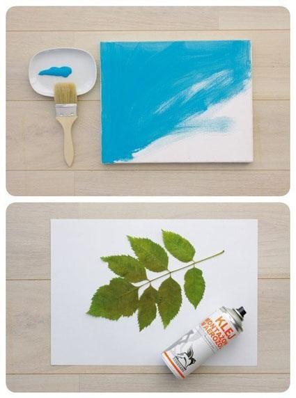 家居装饰画DIY 用树叶变废为宝手工制作相框
