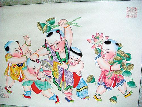 杨柳青年画的体裁