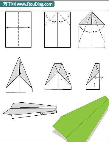 纸飞机双尾翼的做法等多款手工叠纸飞机过程diy图解