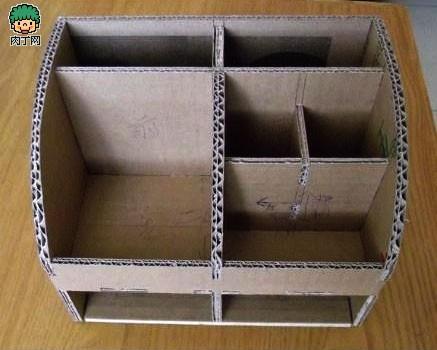 能收纳箱DIY制作过程-用卡纸自制收纳盒 多功能收纳箱DIY图解