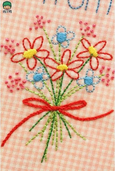 精美的手工绣花图案欣赏图片