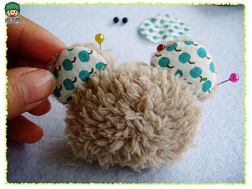 最新手工diy头绳 漂亮的手工制作小熊饰品-封存