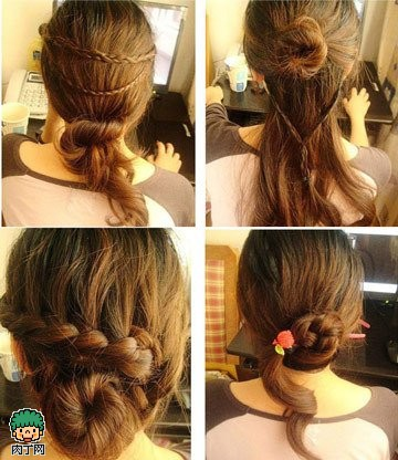 短发编辫子发型扎法步骤