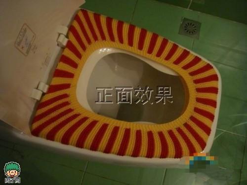 毛线编织马桶坐垫_用毛线织马桶垫视频 怎样用毛线编织坐便器垫