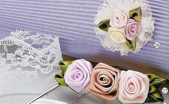 绸缎diy玫瑰花头花制作方法-封存