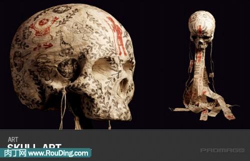 人头骨雕刻的艺术作品-封存 日志测试页-中国网络电视