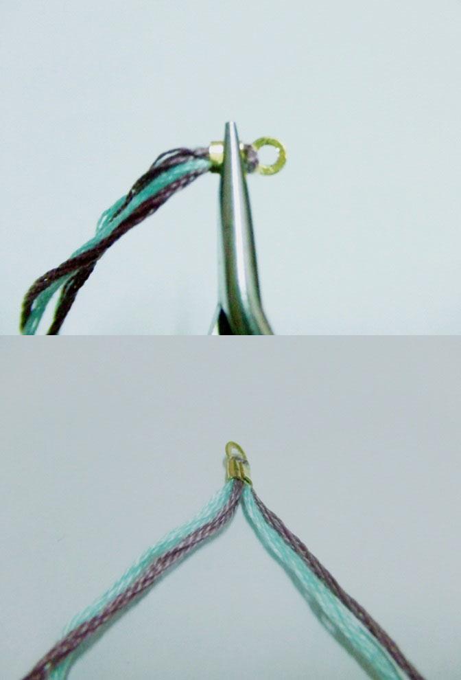 diy创意手工编织彩绳手链详细图解-封存