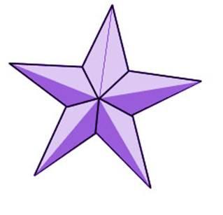 一种比较尖锐的星星,可以接着第 取一张正方形纸,